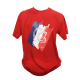 Tee shirt Tricolore Rouge L