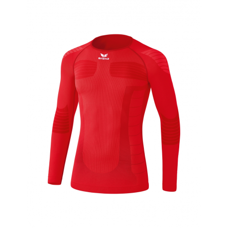 Erima Tee Shirt compression Manches Longues rouge