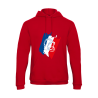 Sweat shirt Tricolore Rouge