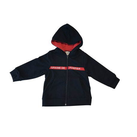 Sweat zip graine de pompiers
