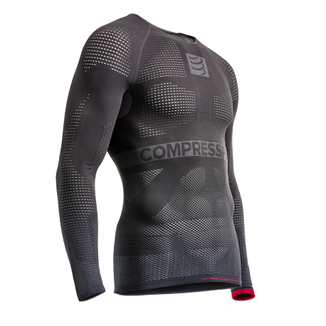 Compressport tee shirt ON/OFF manches longues Gris