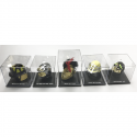Casques Pompier miniatures monde - Lot de 5